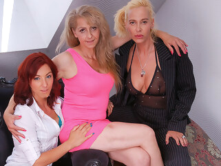 maturenl These Three Old And Young Lesbians Share Their Hairy Wet Pussies - MatureNL